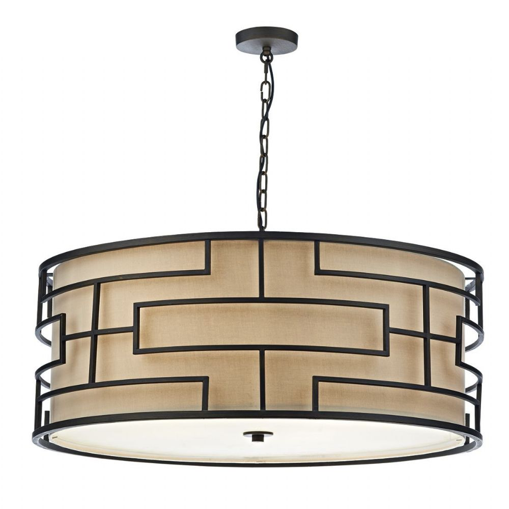 Tumola 6 Light Pendant Bronze 90CM (Class 2 Double Insulated) BXTUM0663-17